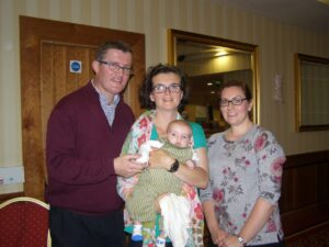 Seamus O'Gorman and Patricia Higgins with their baby son Paddy and Eimear Hegarty
